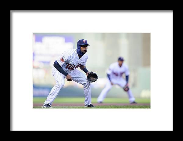 Game Two Framed Print featuring the photograph Eduardo Nunez by Hannah Foslien