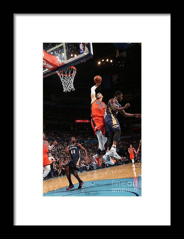 Nba Pro Basketball Framed Print featuring the photograph Enes Kanter by Layne Murdoch