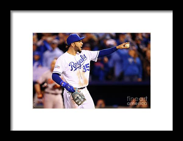 People Framed Print featuring the photograph Eric Hosmer by Dilip Vishwanat