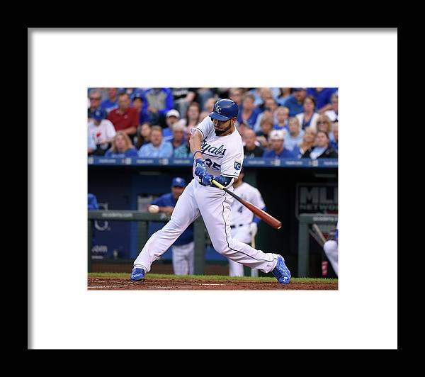 People Framed Print featuring the photograph Eric Hosmer by Ed Zurga
