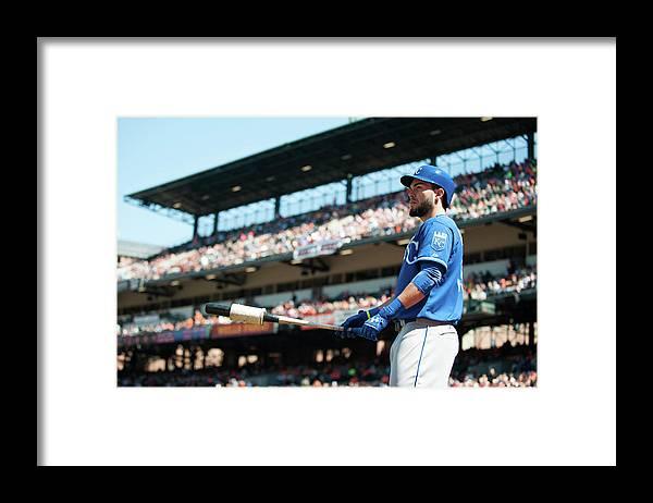 American League Baseball Framed Print featuring the photograph Eric Hosmer by Rob Tringali