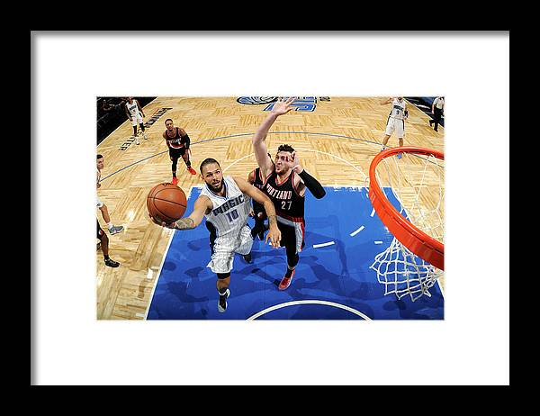 Nba Pro Basketball Framed Print featuring the photograph Evan Fournier by Fernando Medina
