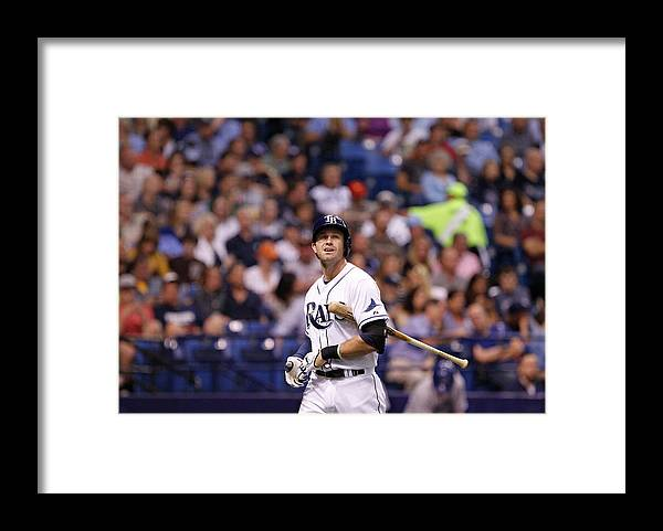 Second Inning Framed Print featuring the photograph Evan Longoria by Brian Blanco