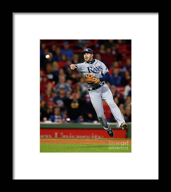 American League Baseball Framed Print featuring the photograph Evan Longoria by Jared Wickerham