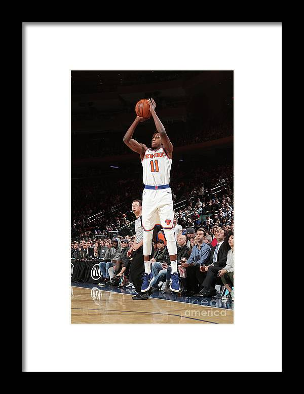 Sports Ball Framed Print featuring the photograph Frank Ntilikina by Nathaniel S. Butler