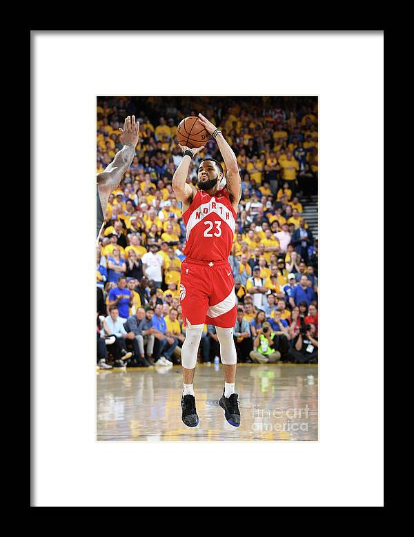 Playoffs Framed Print featuring the photograph Fred Vanvleet by Andrew D. Bernstein
