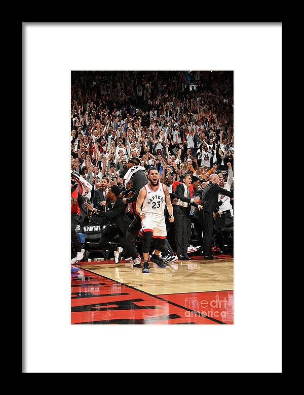 Playoffs Framed Print featuring the photograph Fred Vanvleet by Ron Turenne