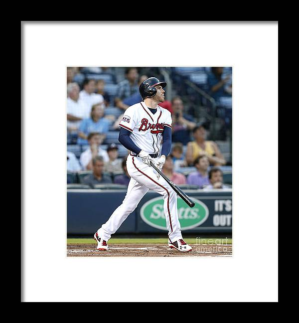 Atlanta Framed Print featuring the photograph Freddie Freeman by Mike Zarrilli