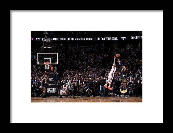 Nba Pro Basketball Framed Print featuring the photograph Gary Harris by Garrett Ellwood