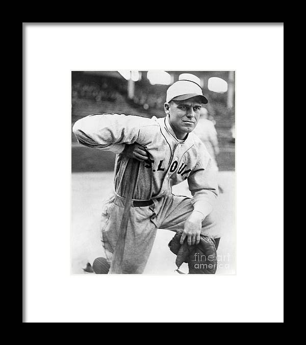 American League Baseball Framed Print featuring the photograph George Sisler by National Baseball Hall Of Fame Library