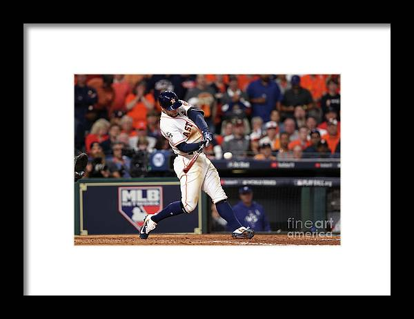 People Framed Print featuring the photograph George Springer by Christian Petersen