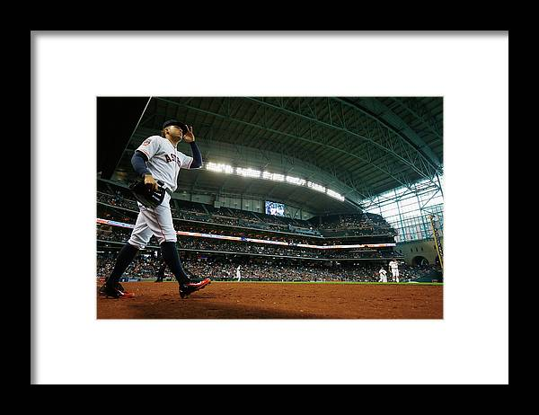 People Framed Print featuring the photograph George Springer by Scott Halleran