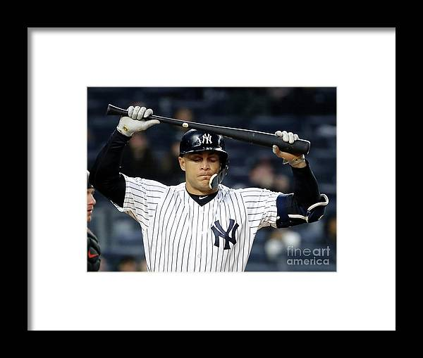 People Framed Print featuring the photograph Giancarlo Stanton by Elsa