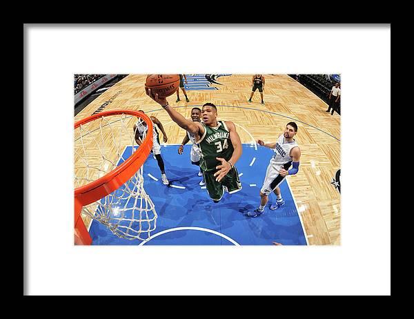 Nba Pro Basketball Framed Print featuring the photograph Giannis Antetokounmpo by Fernando Medina