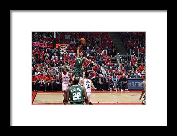 Playoffs Framed Print featuring the photograph Giannis Antetokounmpo by Jesse D. Garrabrant