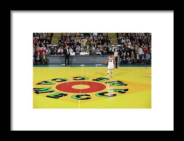 Nba Pro Basketball Framed Print featuring the photograph Giannis Antetokounmpo by Nba Photos