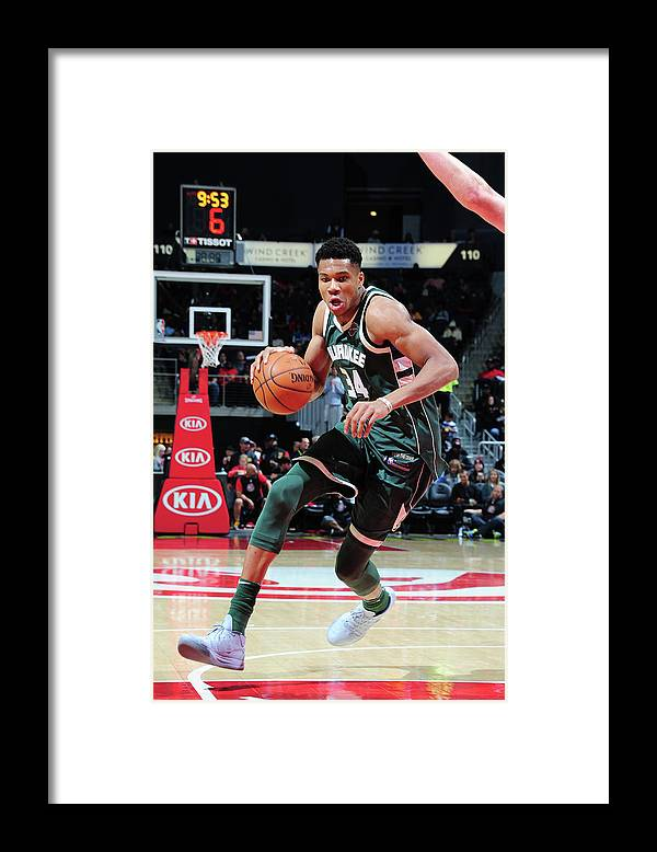 Sport Framed Print featuring the photograph Giannis Antetokounmpo by Scott Cunningham