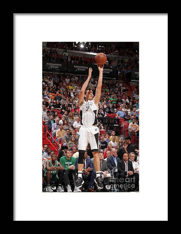 Nba Pro Basketball Framed Print featuring the photograph Goran Dragic by Oscar Baldizon