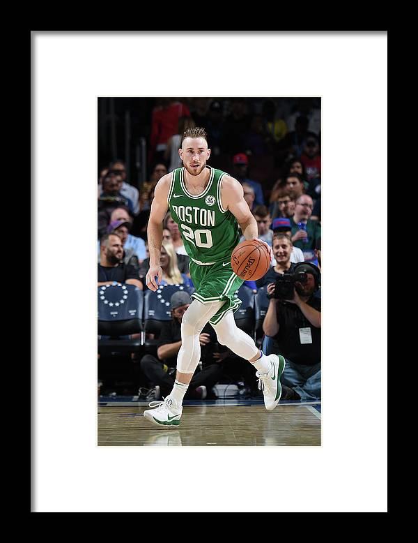 Nba Pro Basketball Framed Print featuring the photograph Gordon Hayward by Brian Babineau