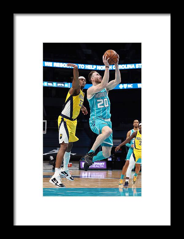 Nba Pro Basketball Framed Print featuring the photograph Gordon Hayward by Brock Williams-Smith