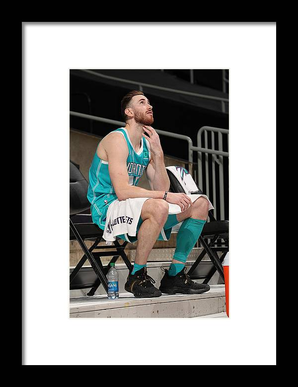 Nba Pro Basketball Framed Print featuring the photograph Gordon Hayward by Kent Smith