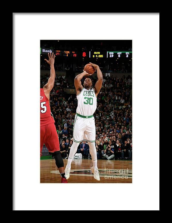 Nba Pro Basketball Framed Print featuring the photograph Guerschon Yabusele by Brian Babineau