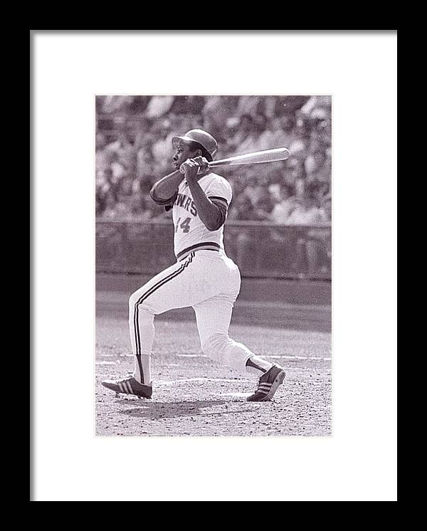 American League Baseball Framed Print featuring the photograph Hank Aaron by Ronald C. Modra/sports Imagery