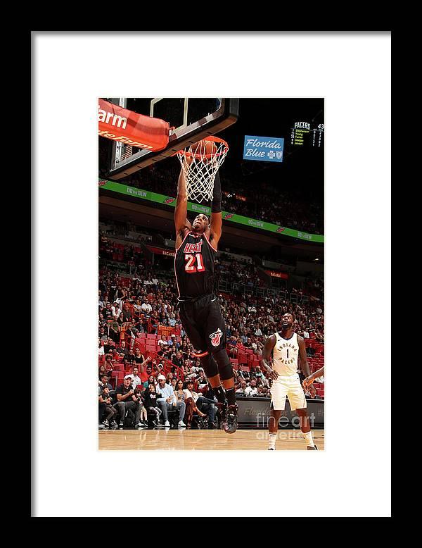 Nba Pro Basketball Framed Print featuring the photograph Hassan Whiteside by Issac Baldizon
