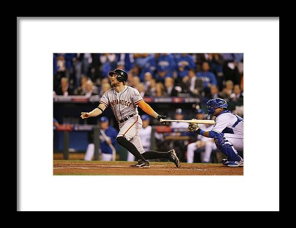 Playoffs Framed Print featuring the photograph Hunter Pence by Brad Mangin