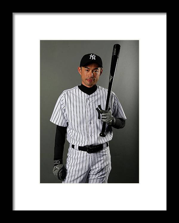 Media Day Framed Print featuring the photograph Ichiro Suzuki by Elsa