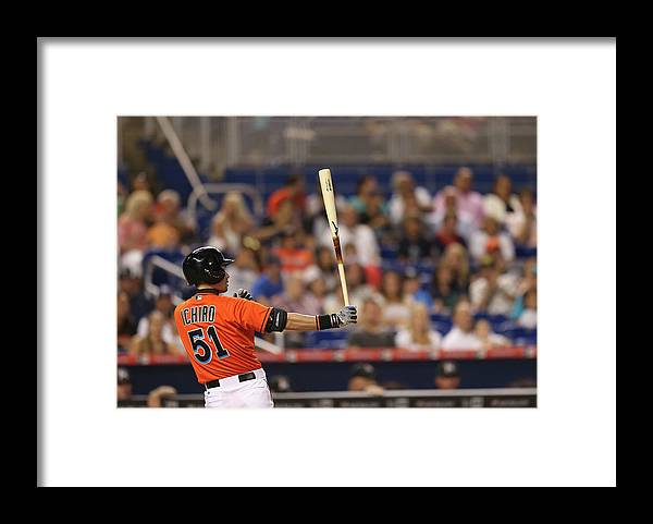 People Framed Print featuring the photograph Ichiro Suzuki by Rob Foldy