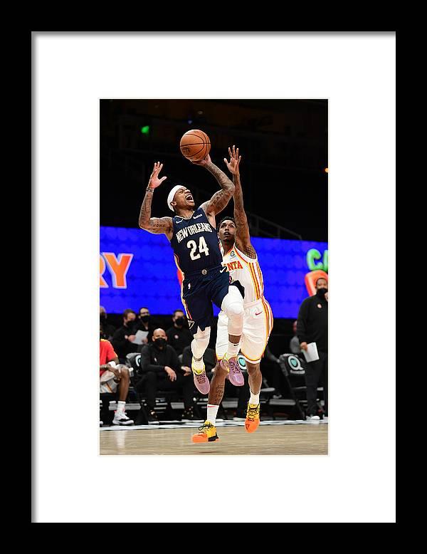 Atlanta Framed Print featuring the photograph Isaiah Thomas by Adam Hagy