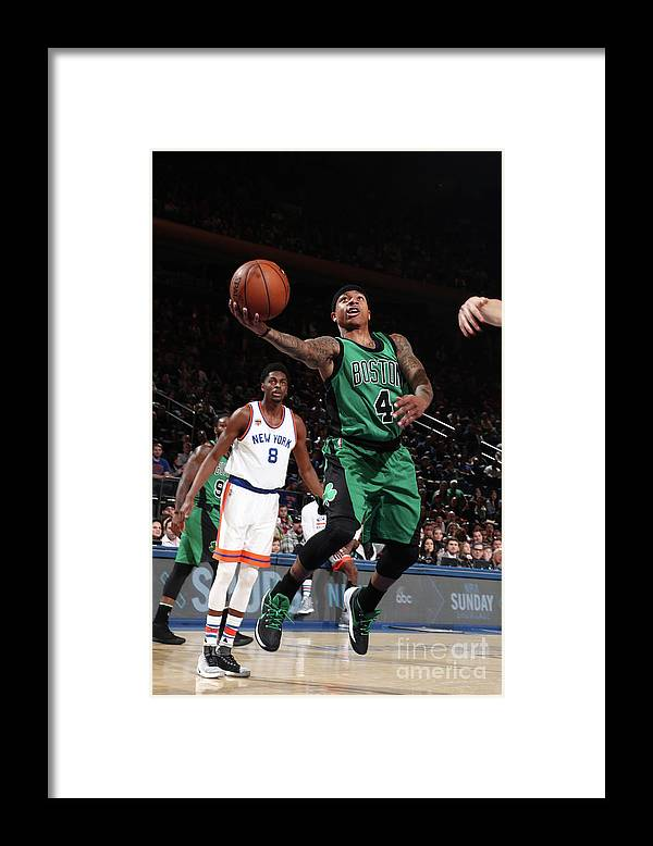 Nba Pro Basketball Framed Print featuring the photograph Isaiah Thomas by Nathaniel S. Butler