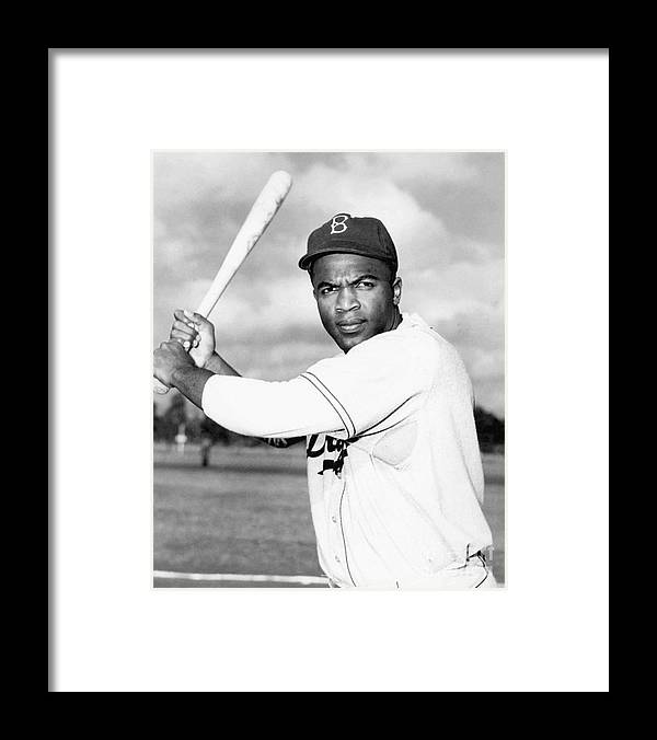 People Framed Print featuring the photograph Jackie Robinson by National Baseball Hall Of Fame Library