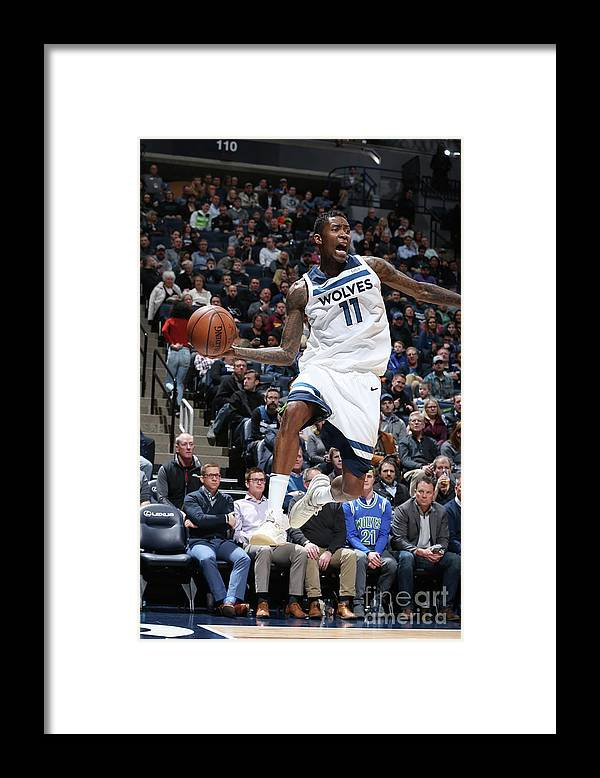 Sports Ball Framed Print featuring the photograph Jamal Crawford by David Sherman