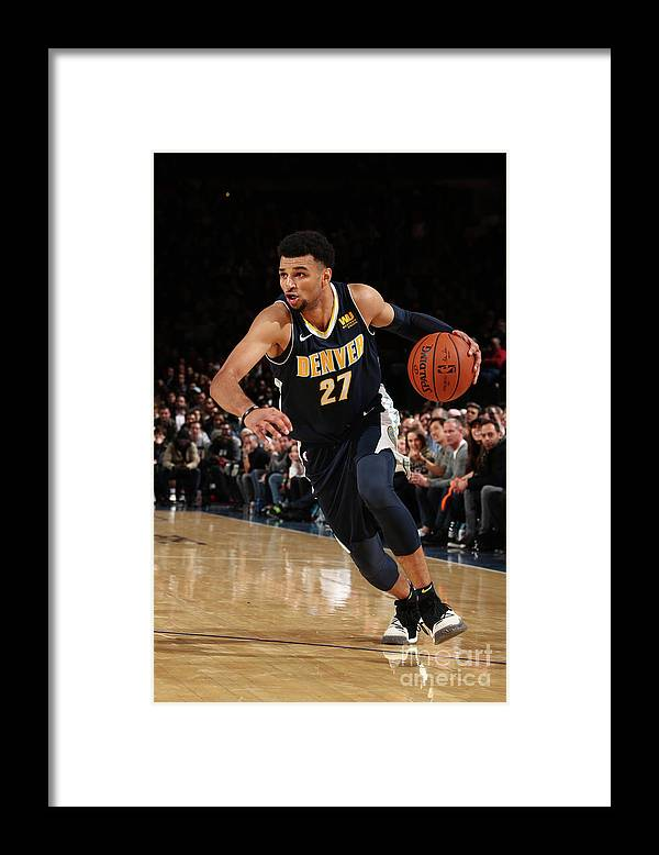 Nba Pro Basketball Framed Print featuring the photograph Jamal Murray by Nathaniel S. Butler