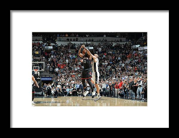 Nba Pro Basketball Framed Print featuring the photograph James Harden by Mark Sobhani