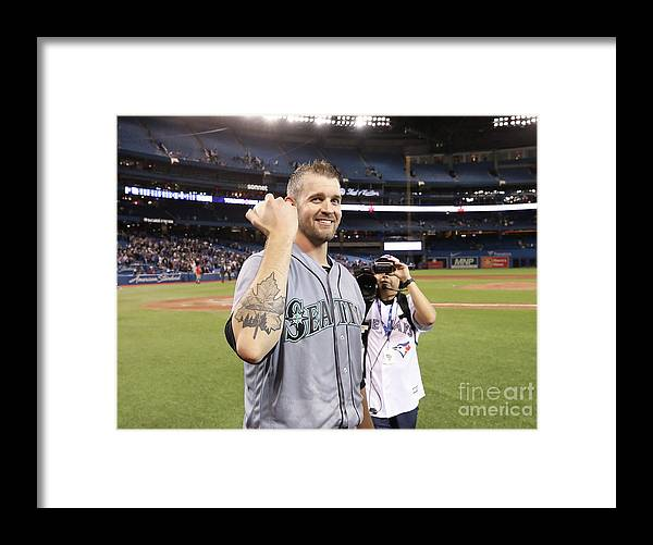 People Framed Print featuring the photograph James Paxton by Tom Szczerbowski