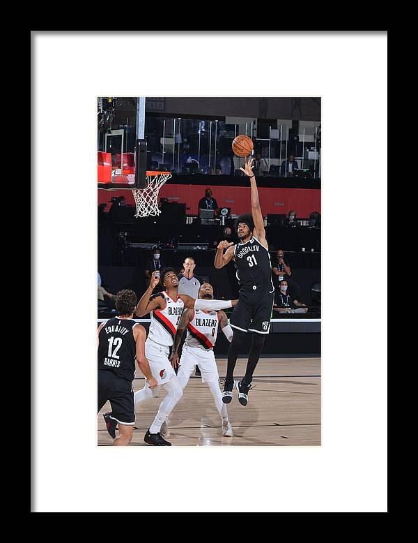 Nba Pro Basketball Framed Print featuring the photograph Jarrett Allen by Jesse D. Garrabrant