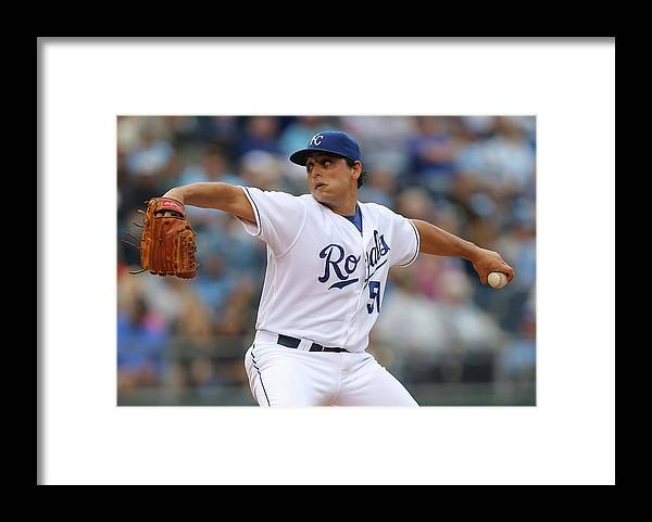 Second Inning Framed Print featuring the photograph Jason Vargas by Ed Zurga