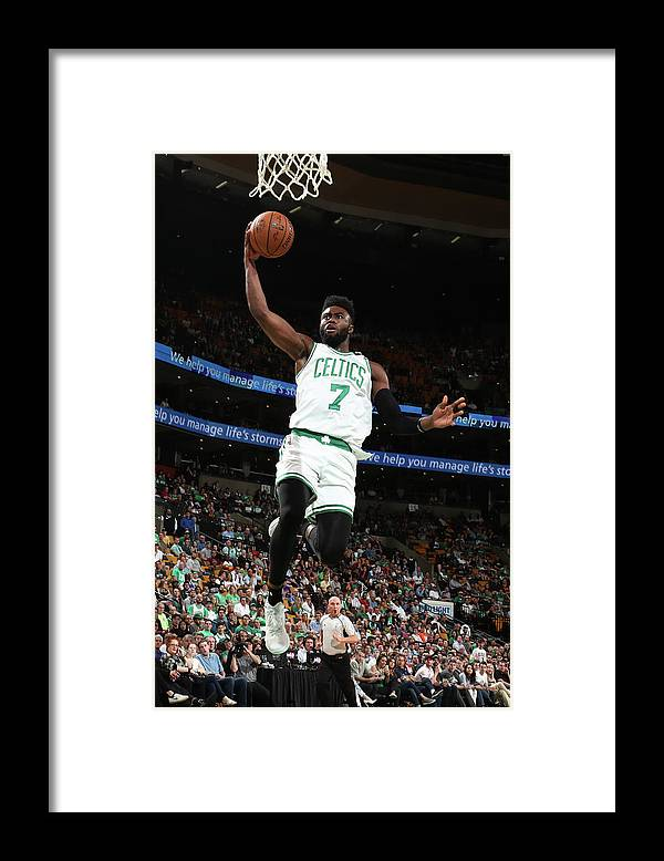 Playoffs Framed Print featuring the photograph Jaylen Brown by Nathaniel S. Butler
