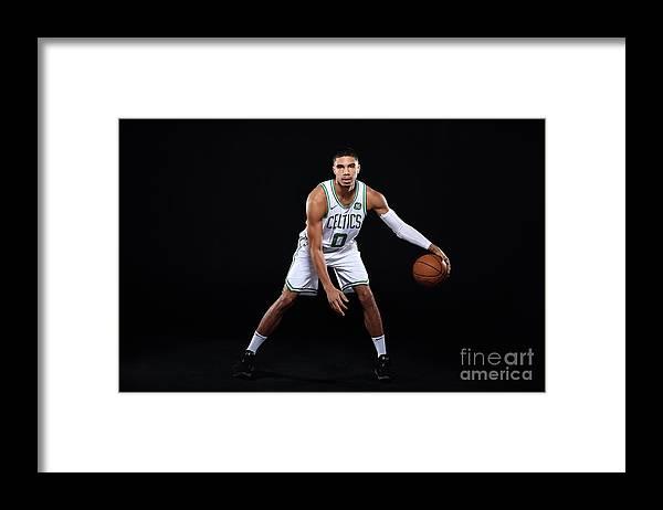 Media Day Framed Print featuring the photograph Jayson Tatum by Brian Babineau