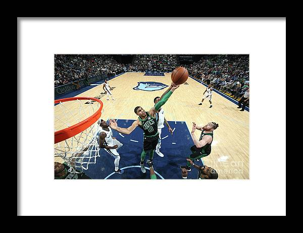 Nba Pro Basketball Framed Print featuring the photograph Jayson Tatum by Joe Murphy