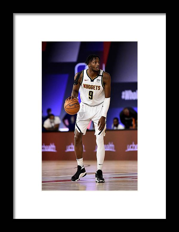 Nba Pro Basketball Framed Print featuring the photograph Jerami Grant by David Dow