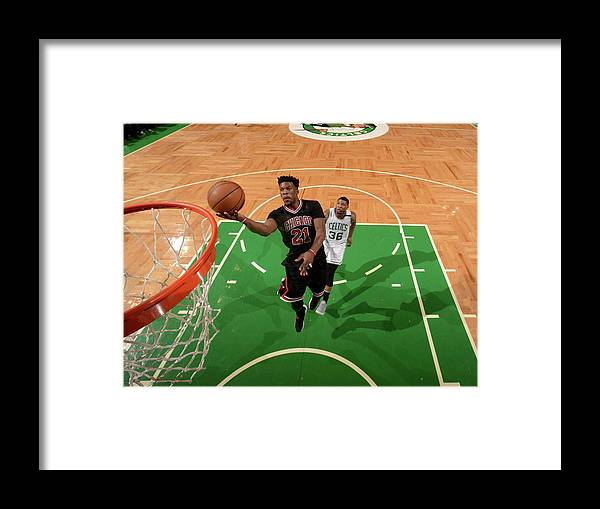 Playoffs Framed Print featuring the photograph Jimmy Butler by Brian Babineau