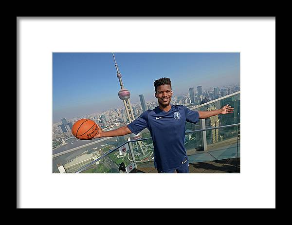 Event Framed Print featuring the photograph Jimmy Butler by David Dow