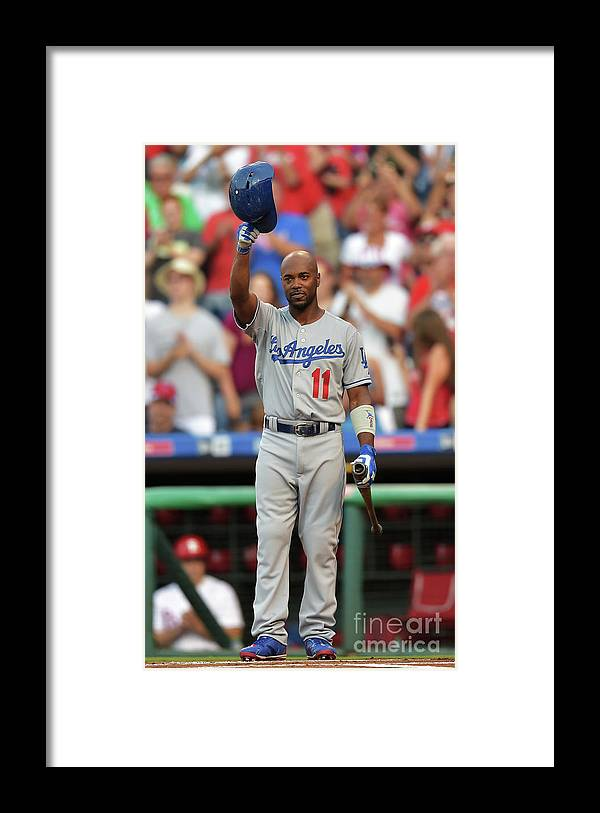 Crowd Framed Print featuring the photograph Jimmy Rollins by Drew Hallowell