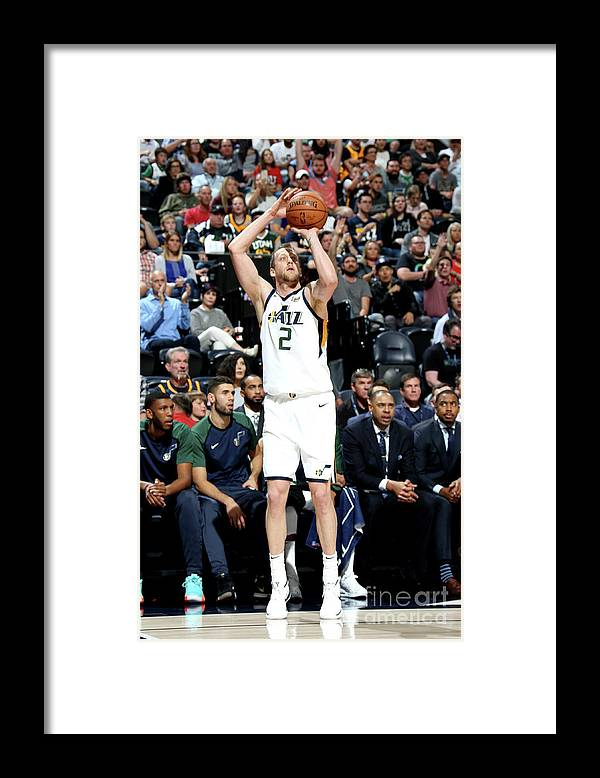 Nba Pro Basketball Framed Print featuring the photograph Joe Ingles by Melissa Majchrzak
