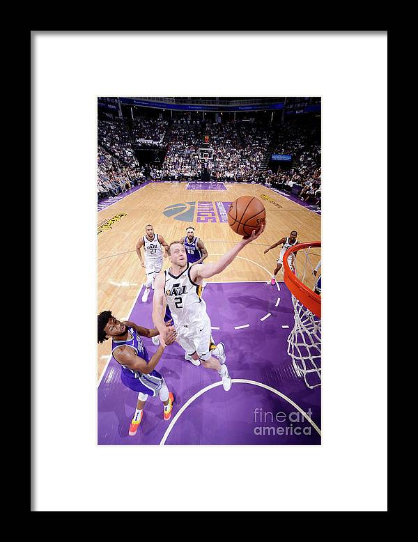 Nba Pro Basketball Framed Print featuring the photograph Joe Ingles by Rocky Widner