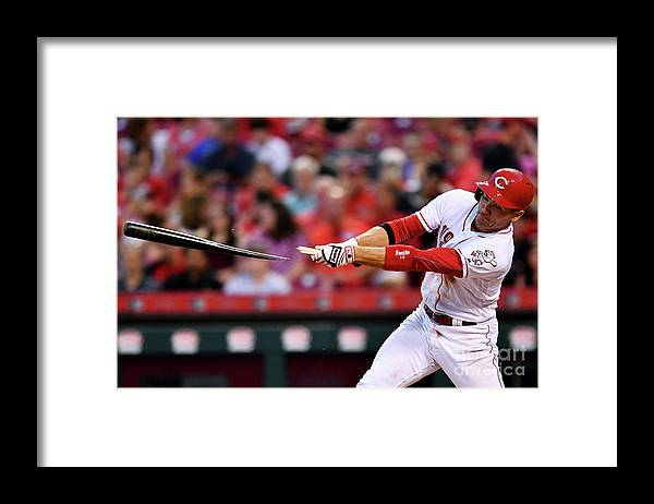 Great American Ball Park Framed Print featuring the photograph Joey Votto by Jamie Sabau